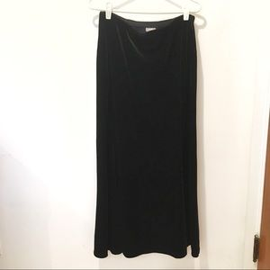J Jill black velvet maxi skirt